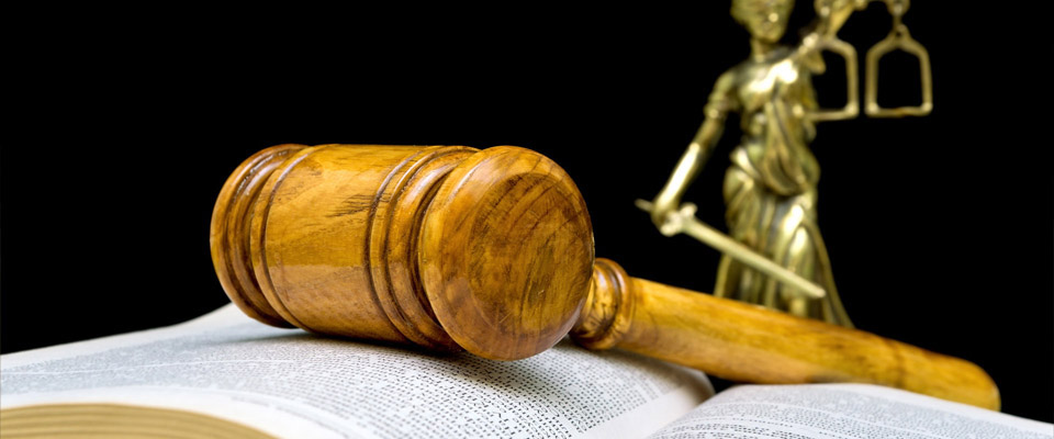 gavel, lawbook and scales of justice